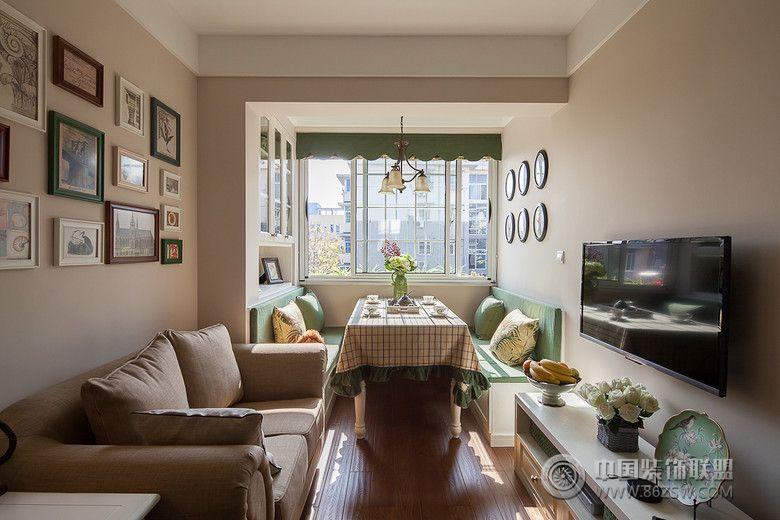 现代60平米两居室客厅装修图片