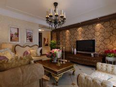 古典欧式精装三居室装修图