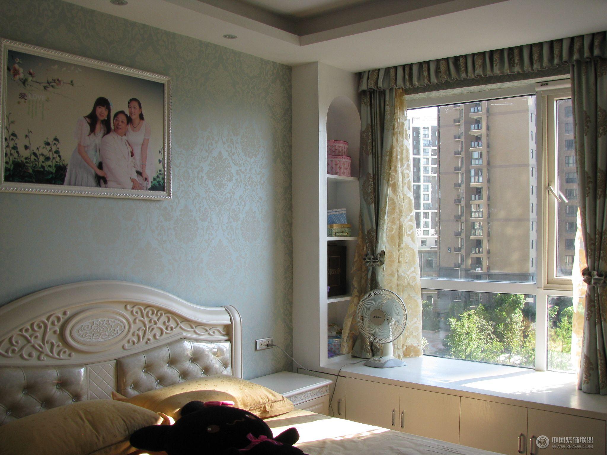欧式风格小户型装修图-卧室装修效果图-八六(中国)