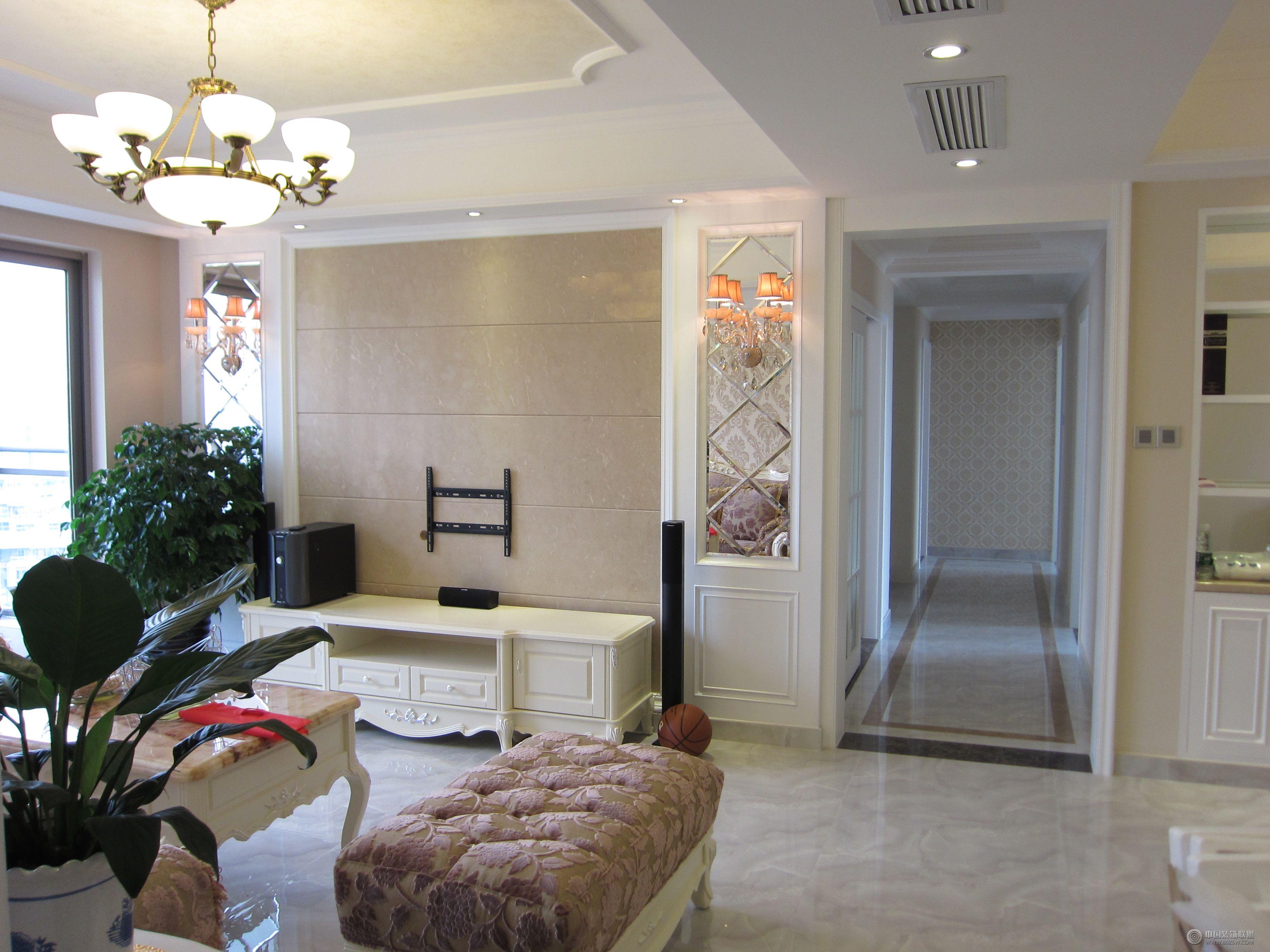 欧式二居室装修图整套大图展示