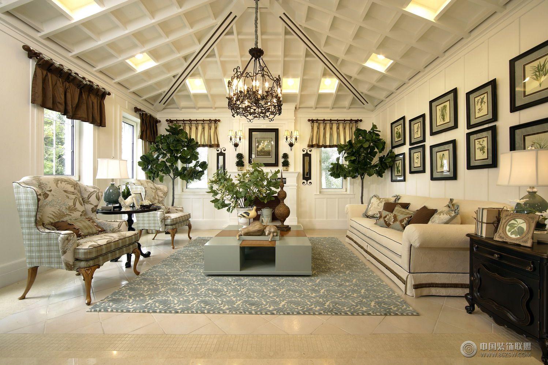 奢华美式别墅 过道装修效果图 -奢华美式别墅 过道装修图片