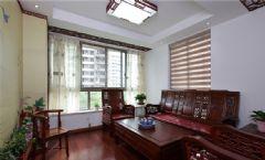 中式风格小户型室内装修图