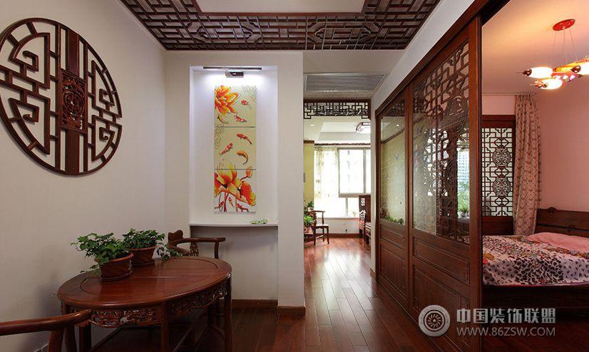中式风格小户型室内装修图餐厅装修图片