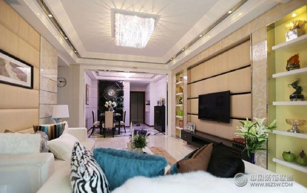 时尚现代风格两室两厅装修图客厅装修图片