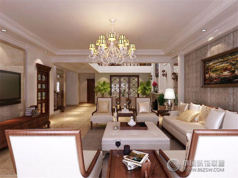 西式古典风格效果图古典客厅装修图片