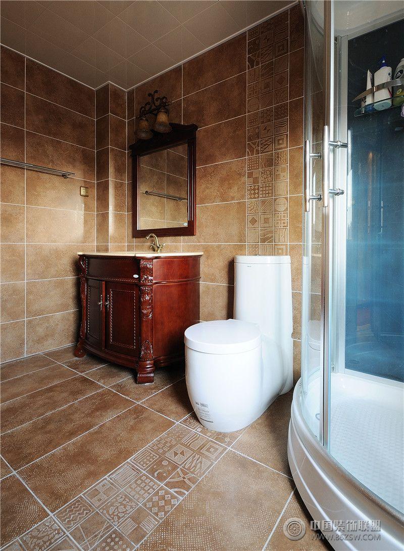古典欧式风格别墅欧式卫生间装修图片