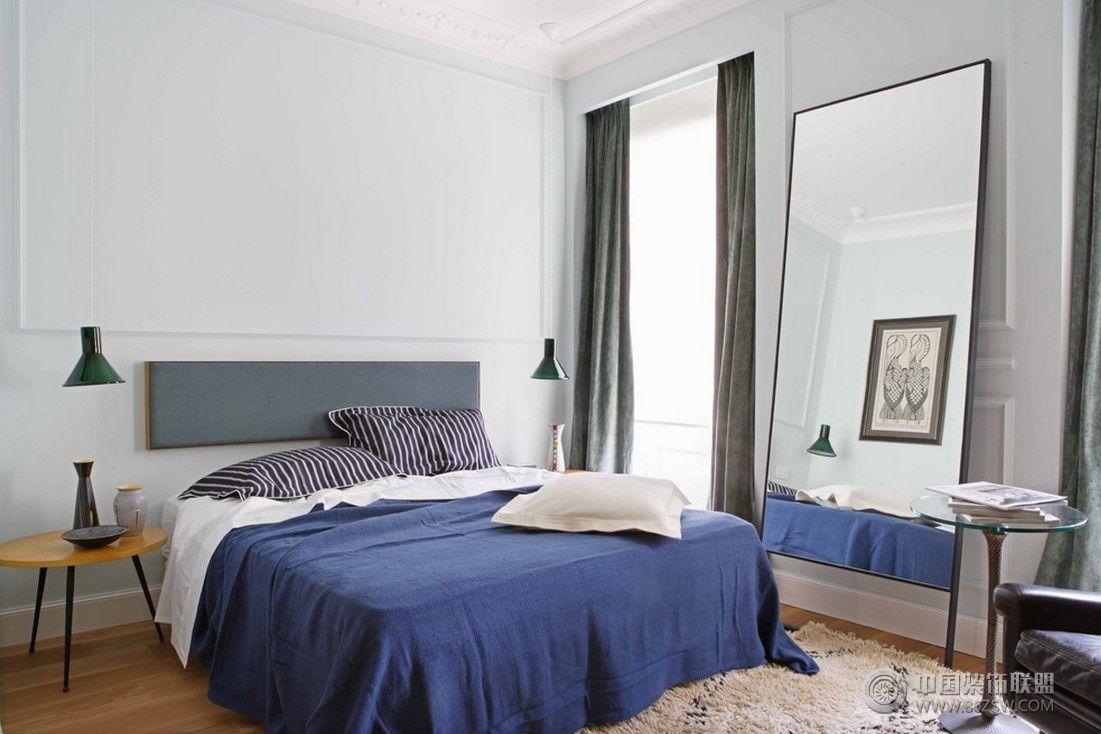 50平米单身公寓简约卧室装修图片