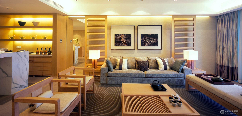 簡約中國風裝修圖-客廳裝修圖片