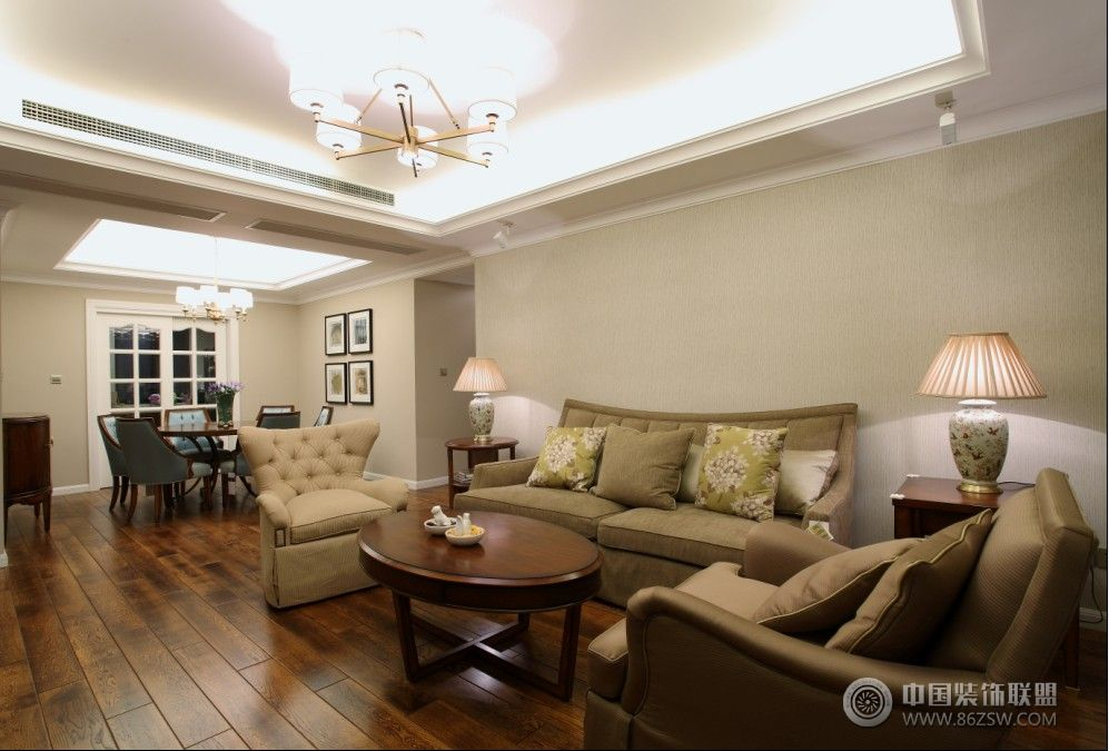 美式风格两室两厅装修图 过道装修效果图