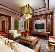 武汉尚层装饰保利十二橡树庄园中式风格方案展示中式风格别墅