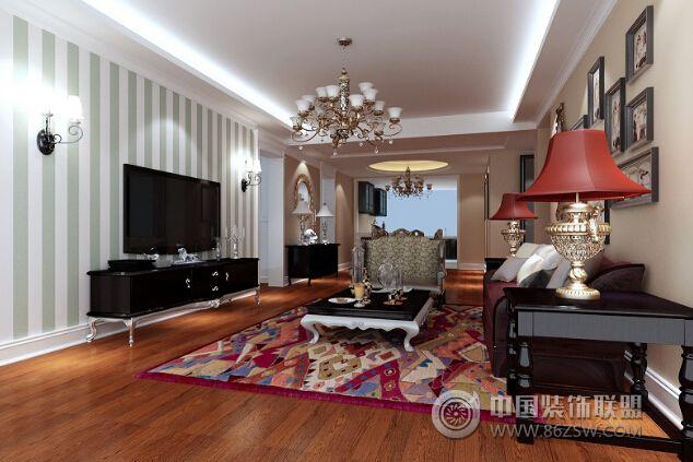 美式三居室 过道装修效果图 -美式三居室 过道装修图片