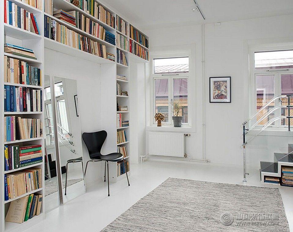 简约风格复式小楼简约书房装修图片