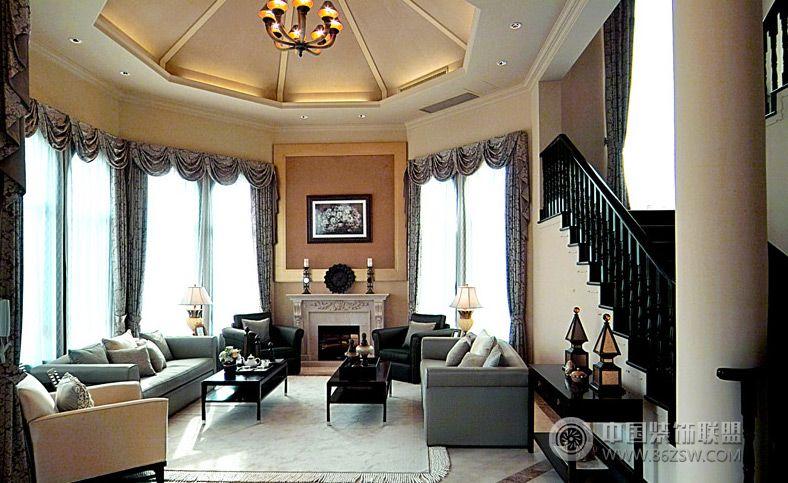 现代美式风格别墅装修效果图 过道装修图片