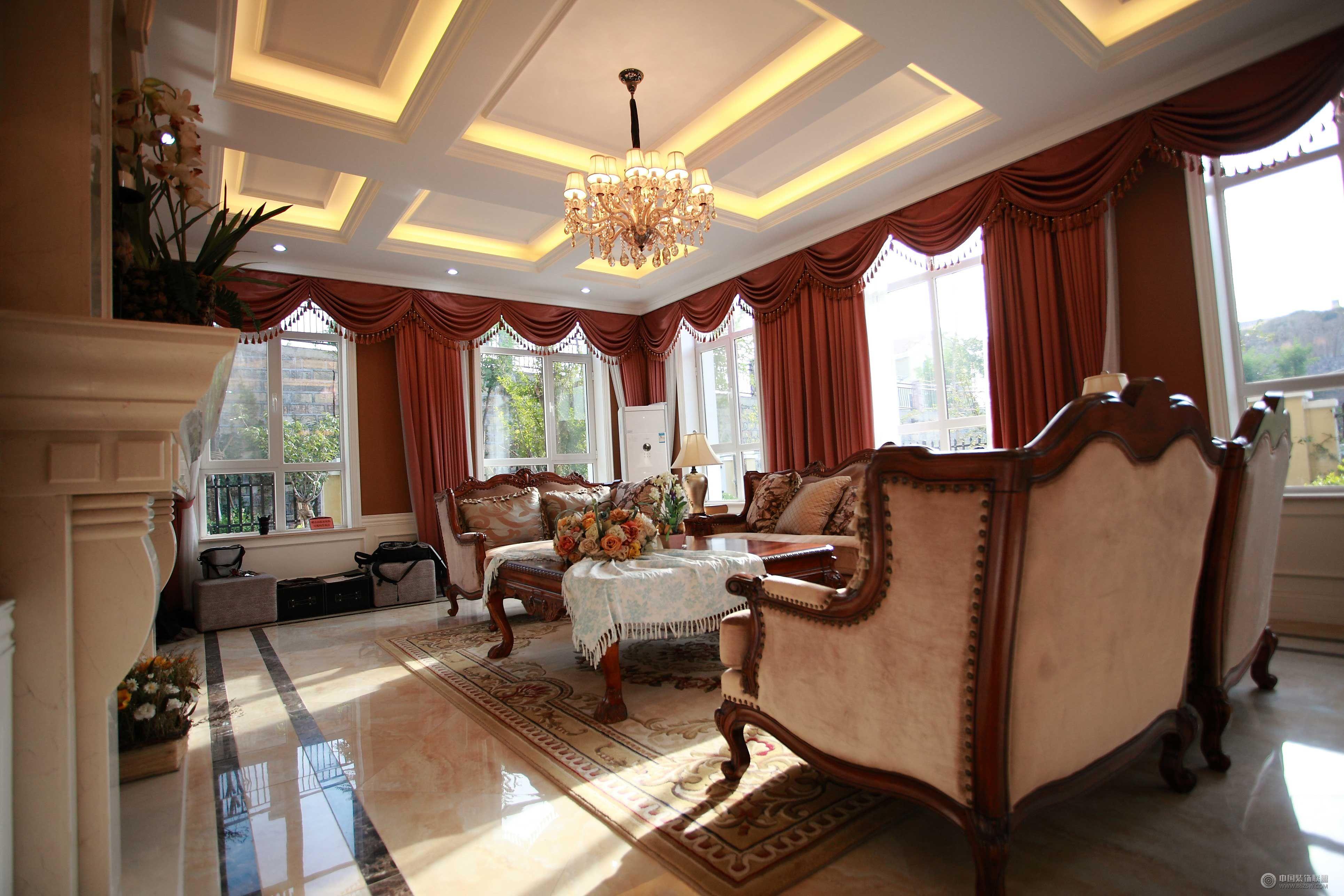 欧式风格别墅-成都尚层装饰-别墅装修装修案例-中国