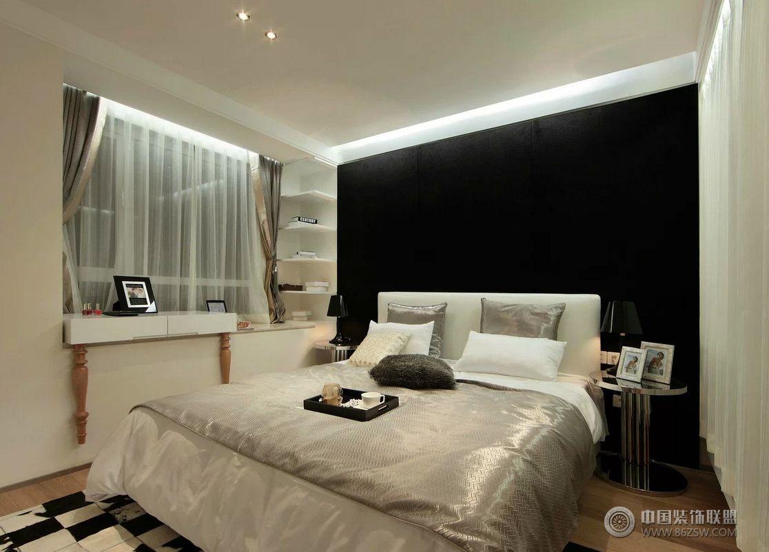 现代时尚三室两厅装修图-客厅装修效果图-八六装饰网