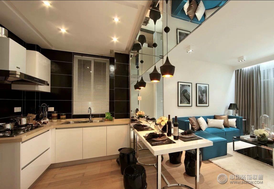 现代时尚三室两厅装修图现代厨房装修图片