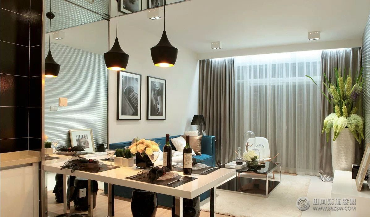现代时尚三室两厅装修图