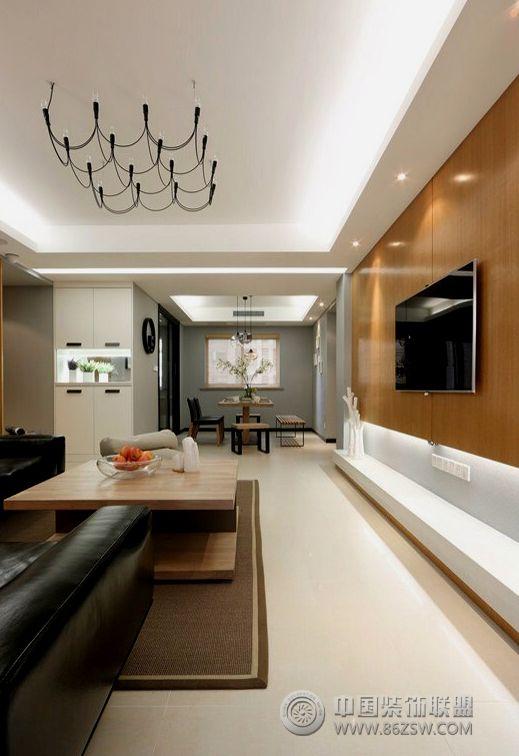 现代简约风格两室两厅装修图 客厅装修效果图