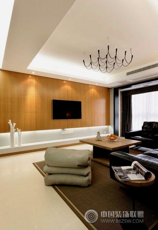 现代简约风格两室两厅装修图 客厅装修效果图 高清图片