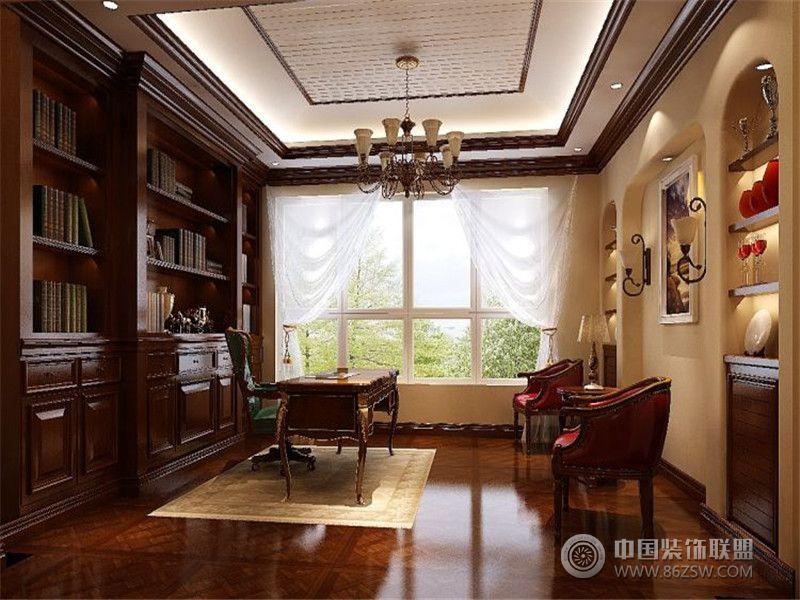 成都尚层装饰别墅装修西式古典风格案例效果图