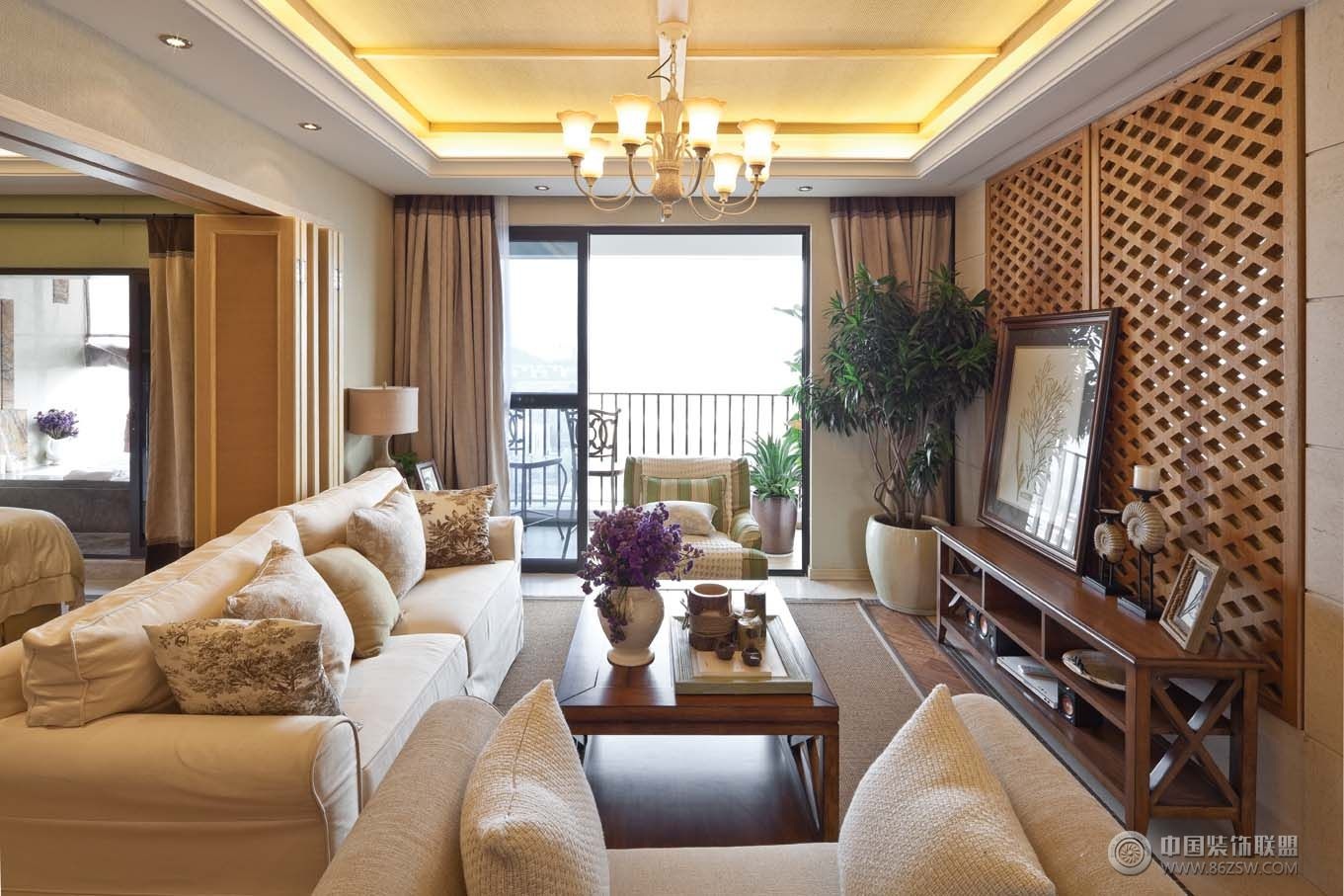 米两室一厅装修效果图高清图片