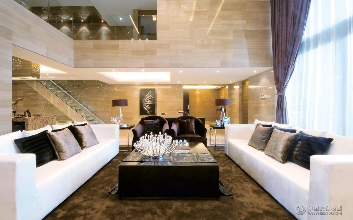 现代风格复式楼效果图现代客厅装修图片