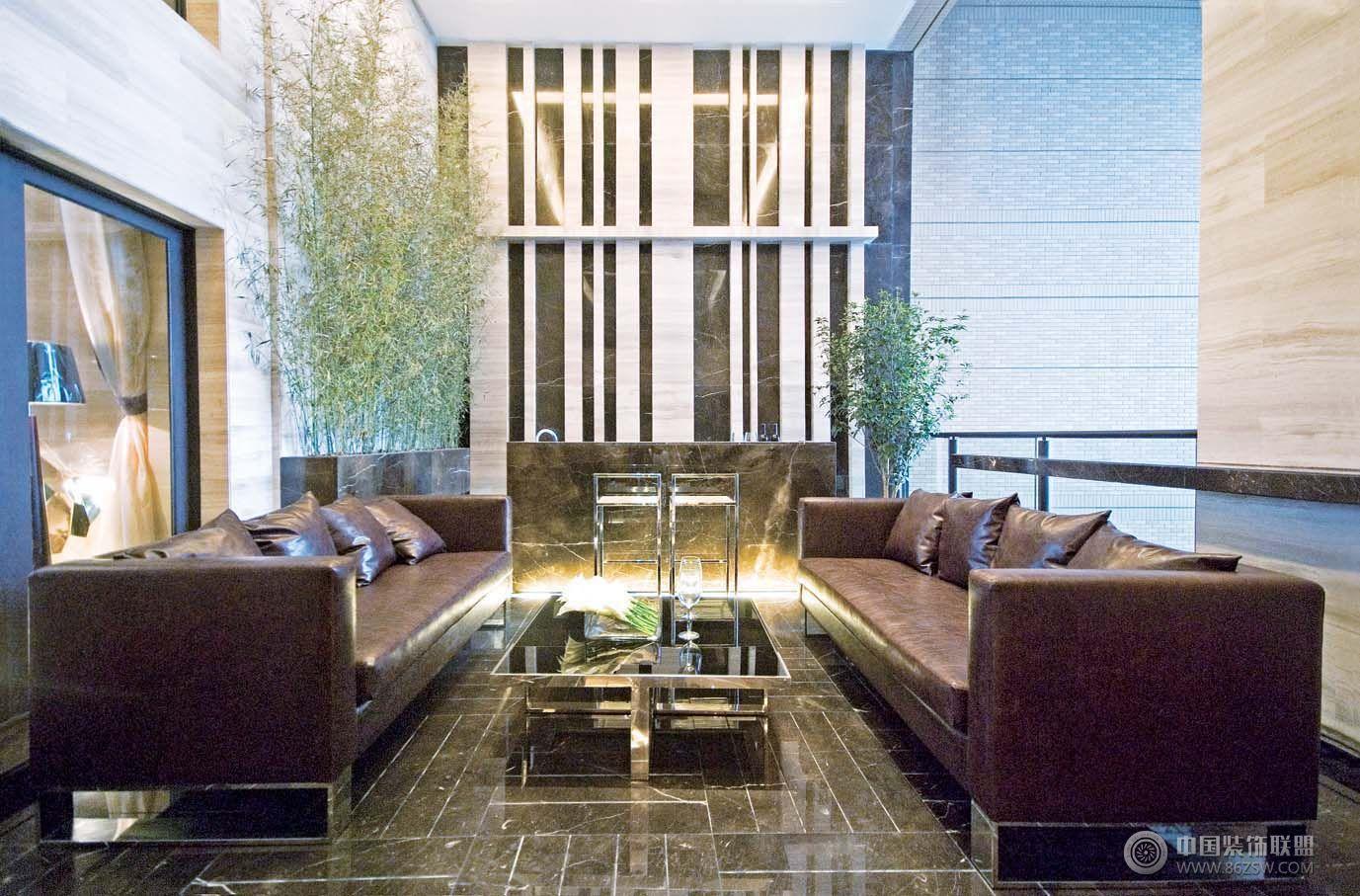 现代风格复式楼效果图客厅装修图片