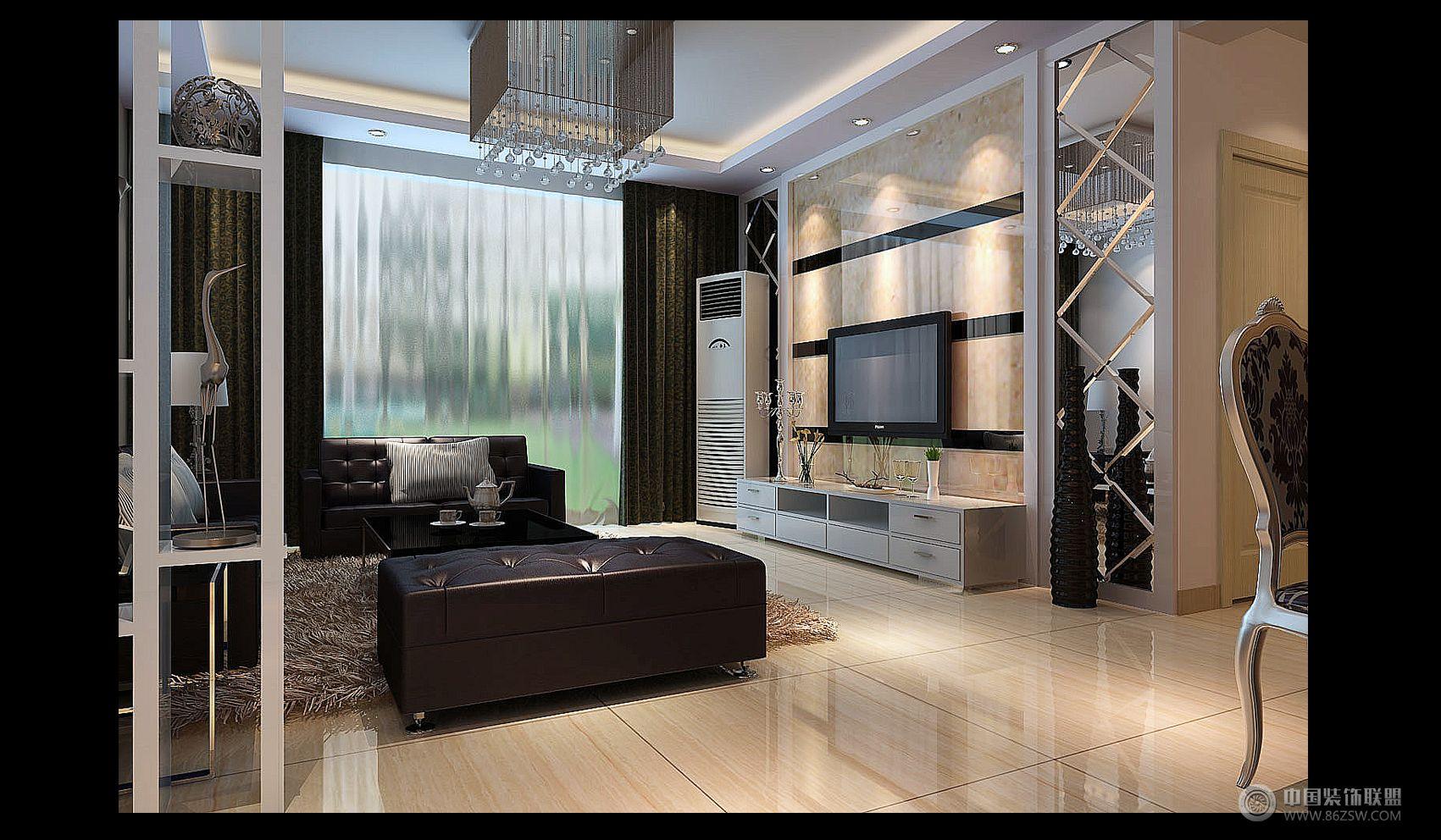 中房胜利小区-客厅装修效果图-八六(中国)装饰联盟
