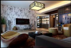 盛天龙湾中式风格三居室