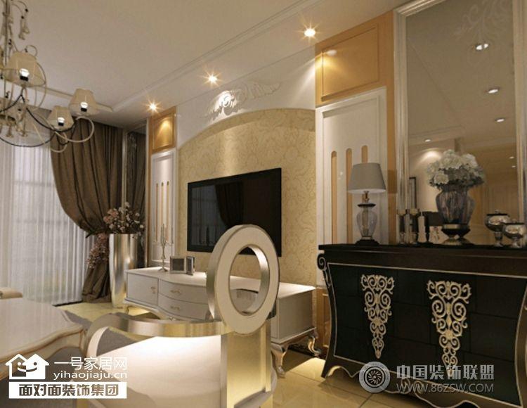 金色港湾五期160平米-客厅装修图片