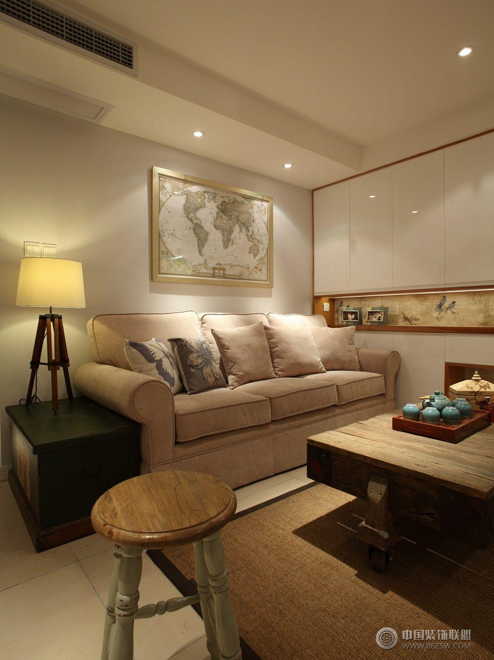 现代美式风格装修图美式客厅装修图片