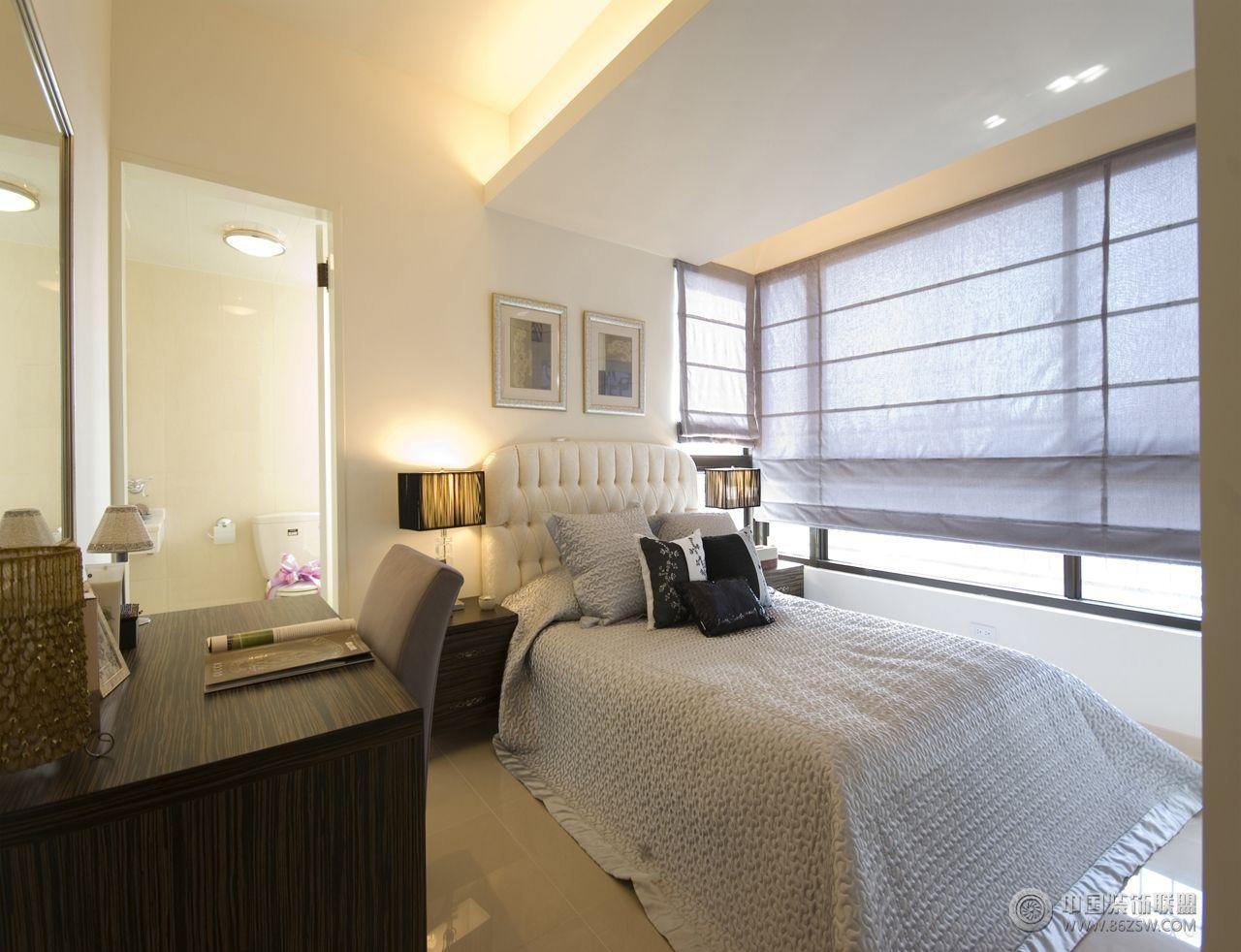 现代简约小户型装修图-卧室装修图片