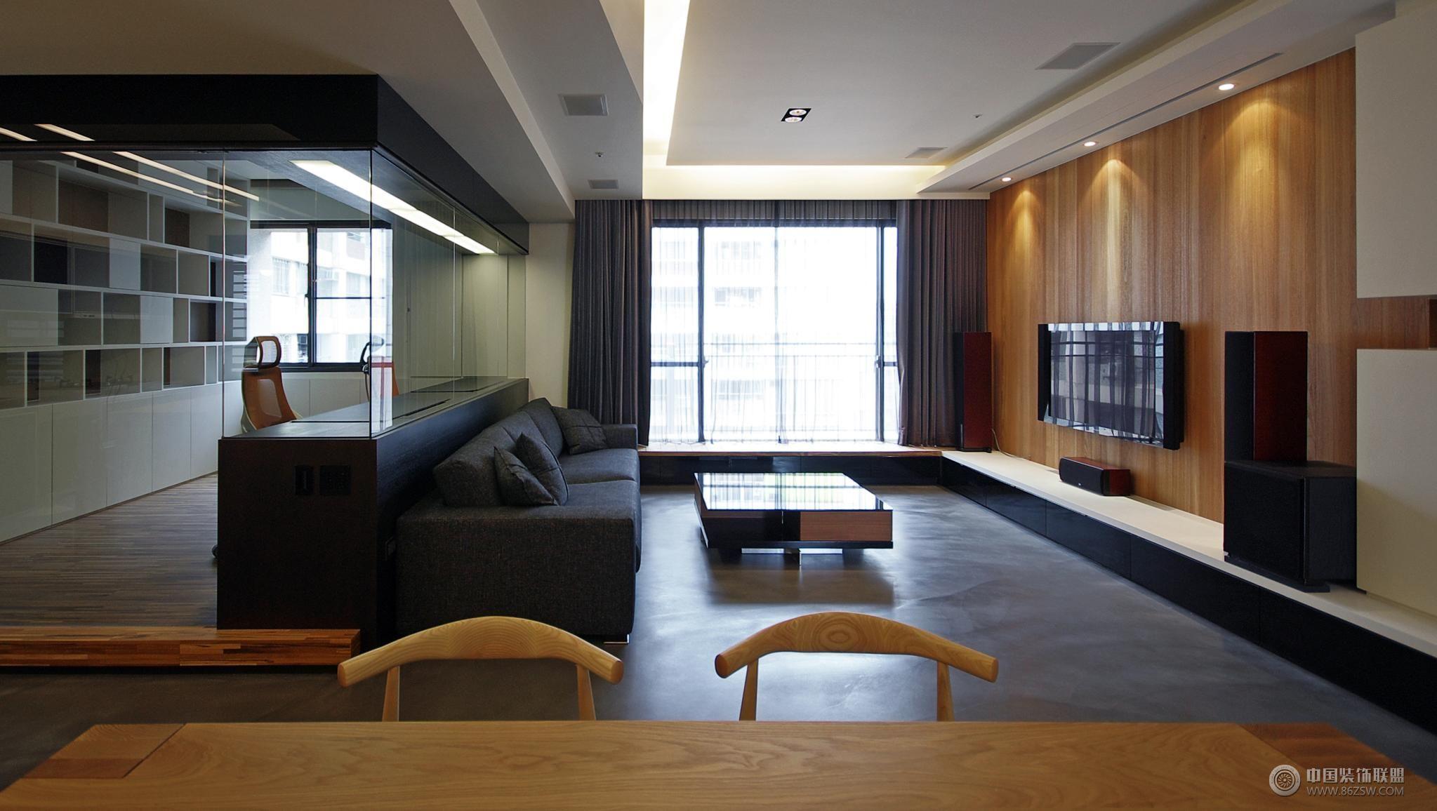 80平米現代簡約家裝-書房裝修效果圖-八六裝飾網裝