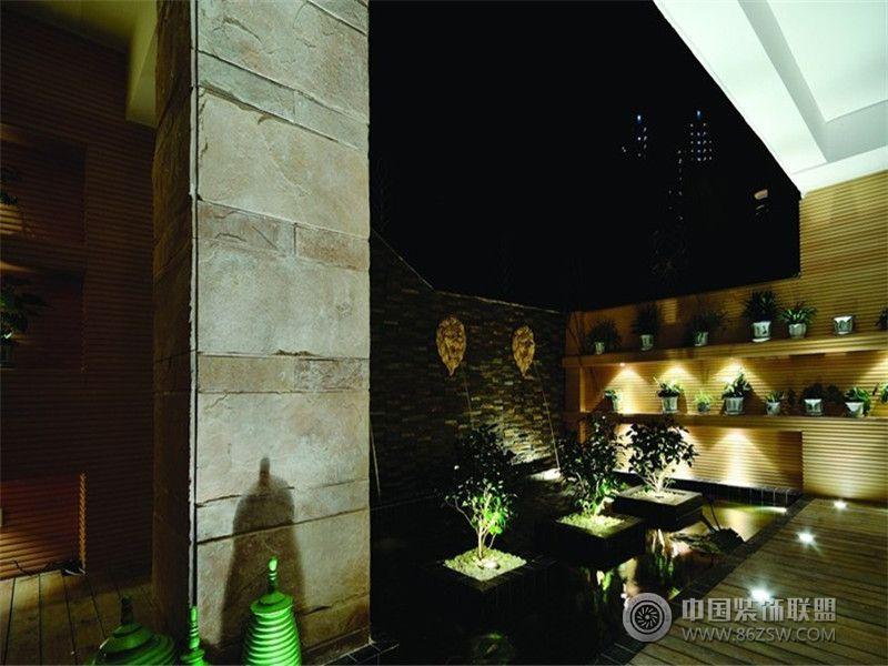 成都尚层装饰别墅装修现代简约风格案例效果图 客厅装修图