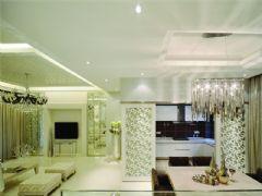 成都尚層裝飾別墅裝修現代簡約風格案例效果圖(二)