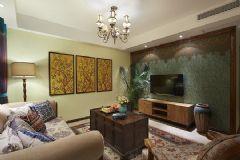 美式风格三居室装修图