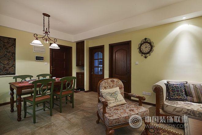 美式风格三居室装修图 过道装修效果图 -美式风格三居室装修图 过道装