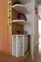 混搭風格130平米三居室混搭風格玄關裝修圖片