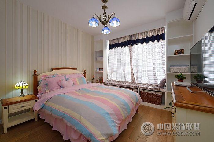 地中海风格90平米三居室-卧室装修图片