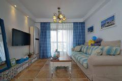 地中海风格90平米三居室