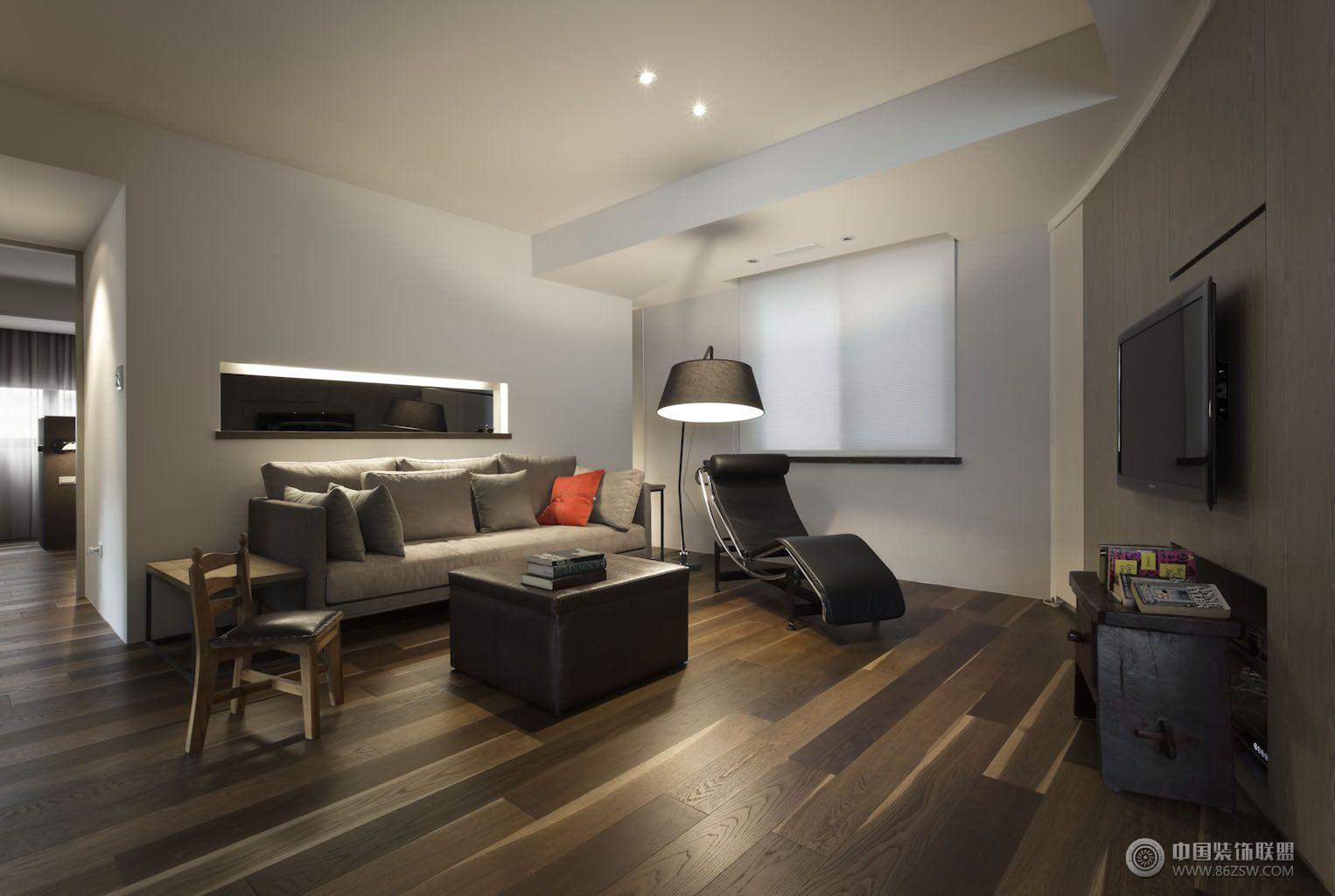 现代三房一厅-客厅装修效果图-八六(中国)装饰联盟