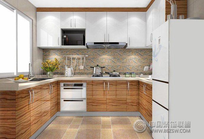 2014开放式厨房精彩设计客厅装修图片