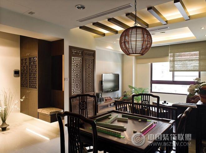 142平中式禅风雅居-客厅装修效果图-八六(中国)装饰(.图片