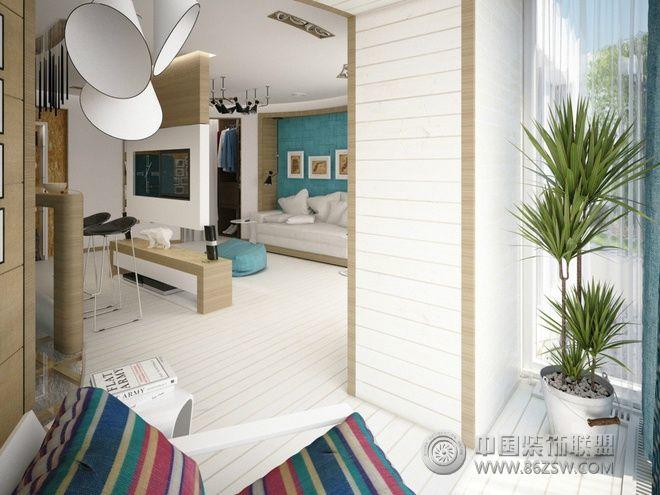 66平簡約極品公寓簡約過道裝修圖片