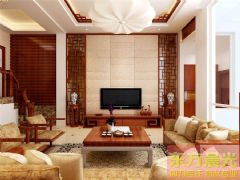 北京南大街别墅装修设计中式风格别墅