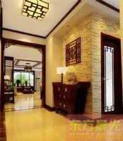 天津中式別墅設計中式風格玄關裝修圖片