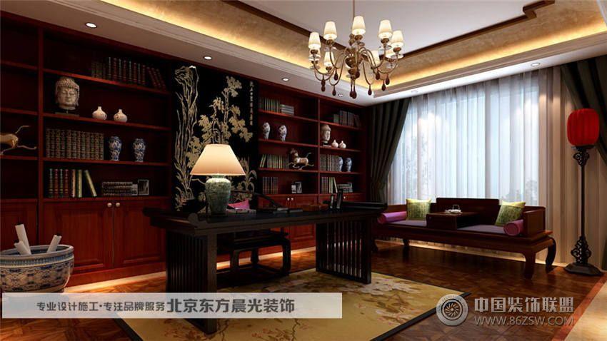 独特的中式别墅设计 书房装修效果图 八六 中国 装饰联盟