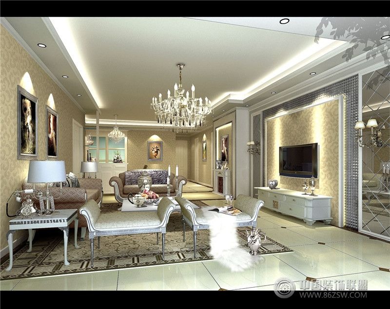 五大经典别墅装修风格鉴赏紫苹果装饰-客厅装修图片