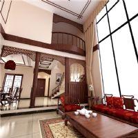 麓山国际新中式别墅案例紫苹果装饰中式风格别墅