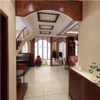 麓山國際新中式別墅案例紫蘋果裝飾中式風格玄關裝修圖片
